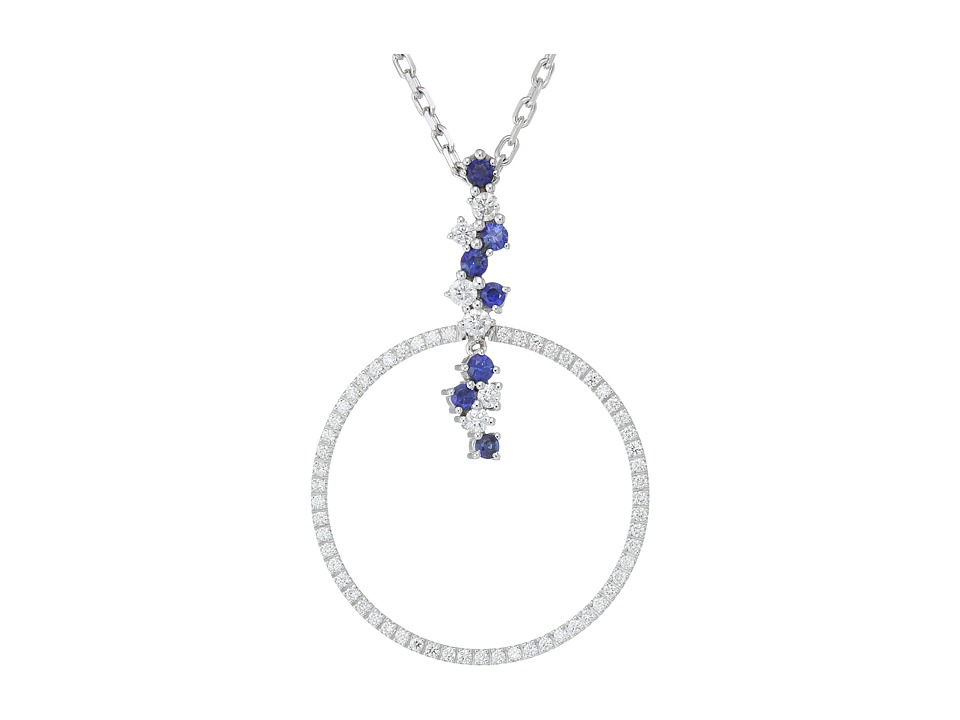 Miseno Miseno - Vesuvio 18k Gold Diamond/Sapphire Pendant Necklace
