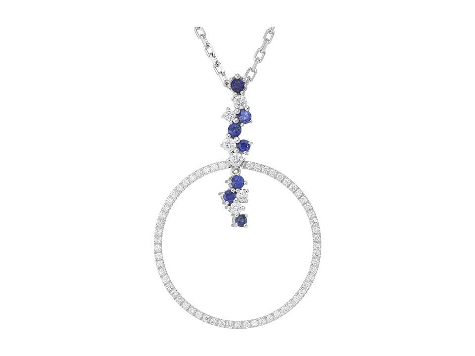 Miseno - Vesuvio 18k Gold Diamond/Sapphire Pendant Necklace