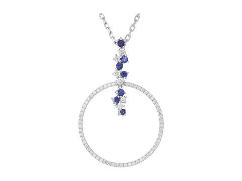 Miseno Vesuvio 18k Gold Diamond/Sapphire Pendant Necklace