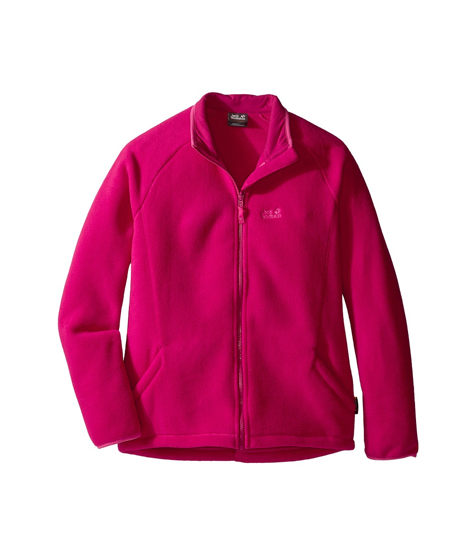 Jack Wolfskin Kids Thunder Bay Fleece Jacket (Infant/Toddler/Little Kids/Big Kids) (Azalea Red) Girl