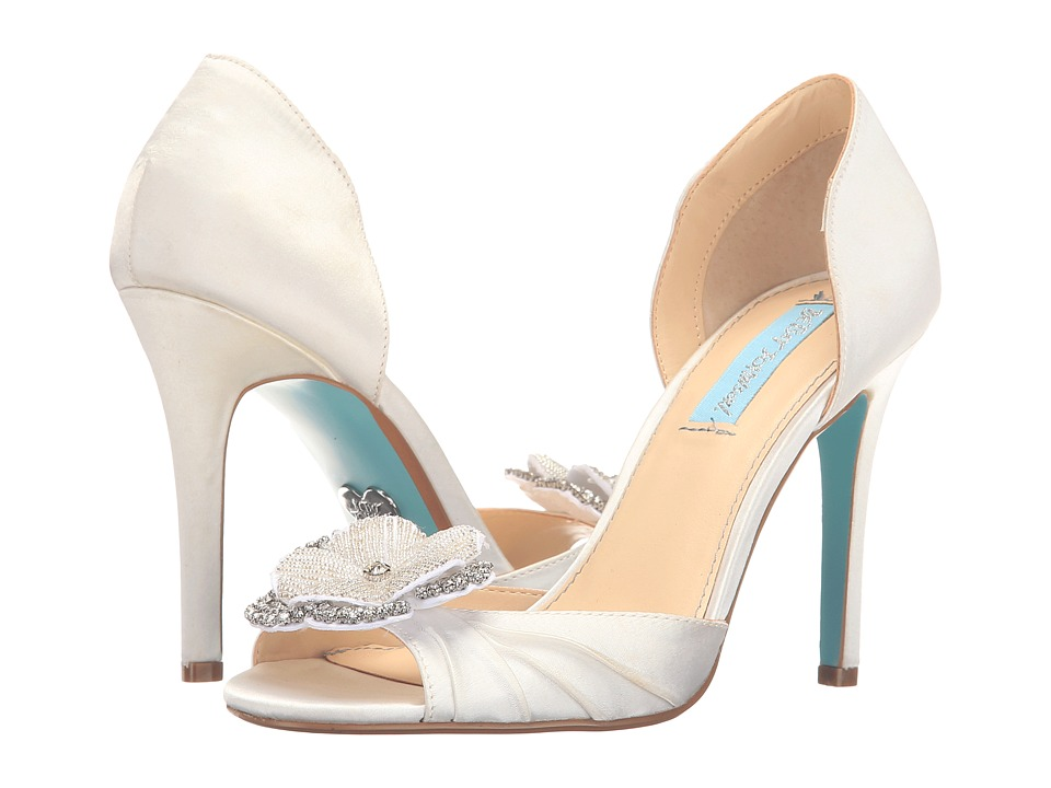 Blue by Betsey Johnson - Emma (Ivory Satin) High Heels