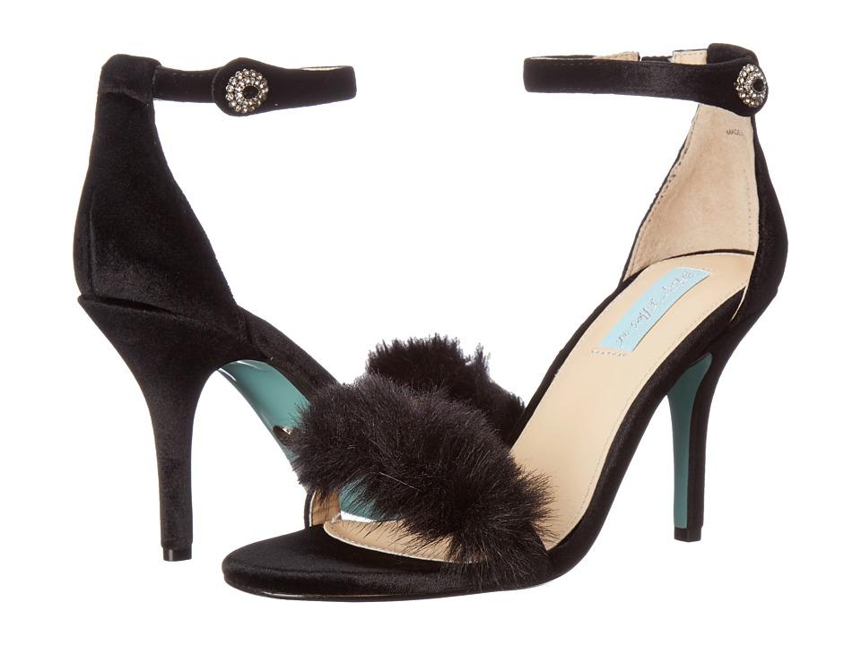 Blue by Betsey Johnson Nolte (Black Velvet) High Heels