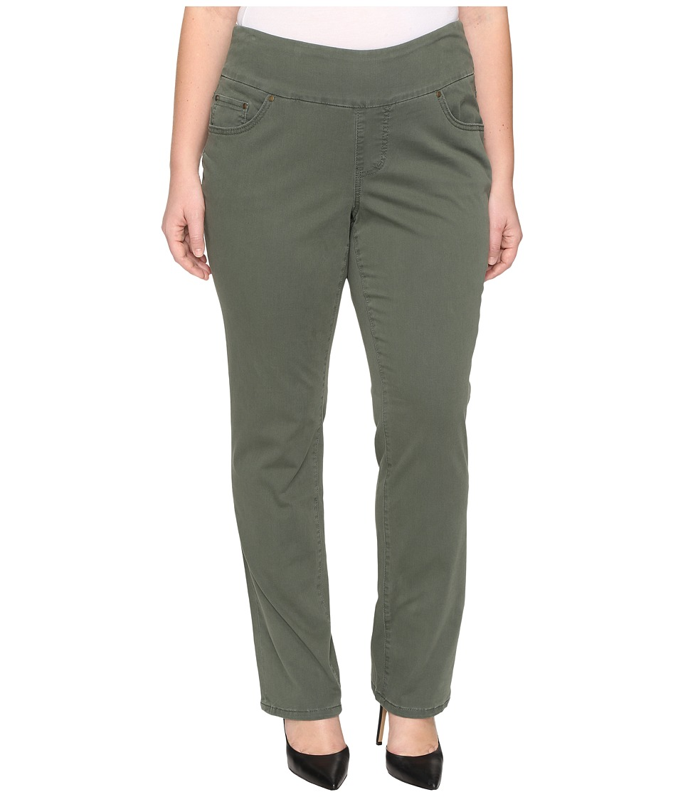 Jag Jeans Plus Size Plus Size Peri Pull-On Straight in Deep Forest Bay Twill (Deep Forest) Women