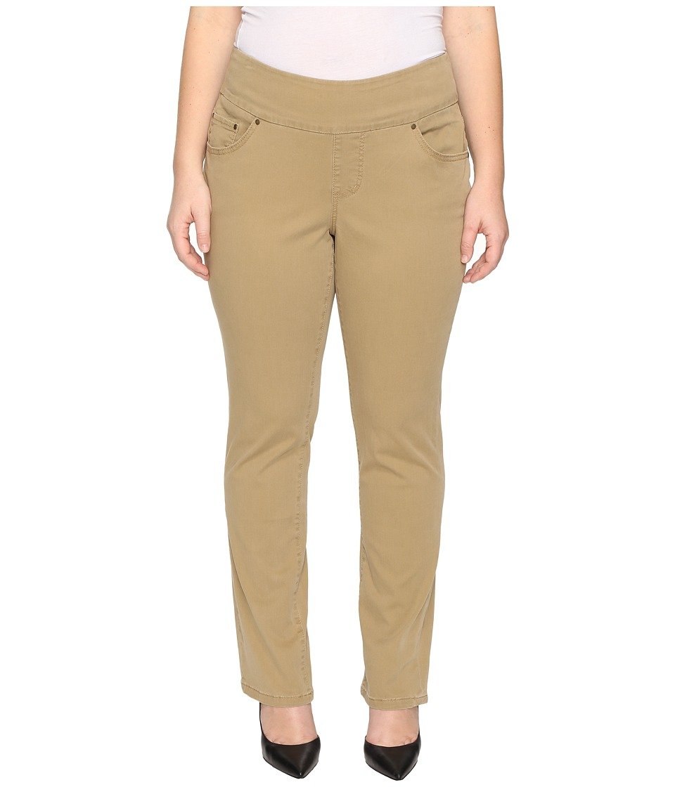 Jag Jeans Plus Size - Plus Size Peri Pull-On Straight in Toffee Bay Twill