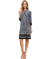 London Times - Placed Scroll Paisley 3/4 Shift Dress