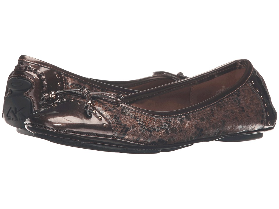 Anne Klein - Buttons Flat (Bronze Multi Snake) Womens Flat Shoes