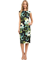 London Times - Garden Pop Cap Sleeve Sheath Dress