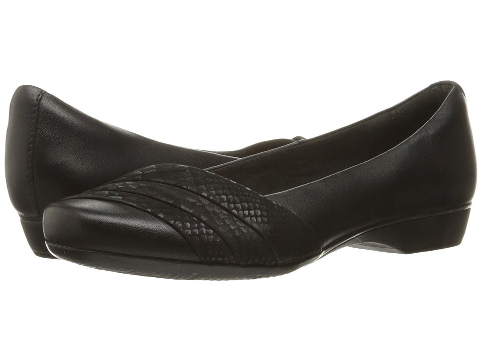 Clarks Blanche Cacee (Black Leather) Women