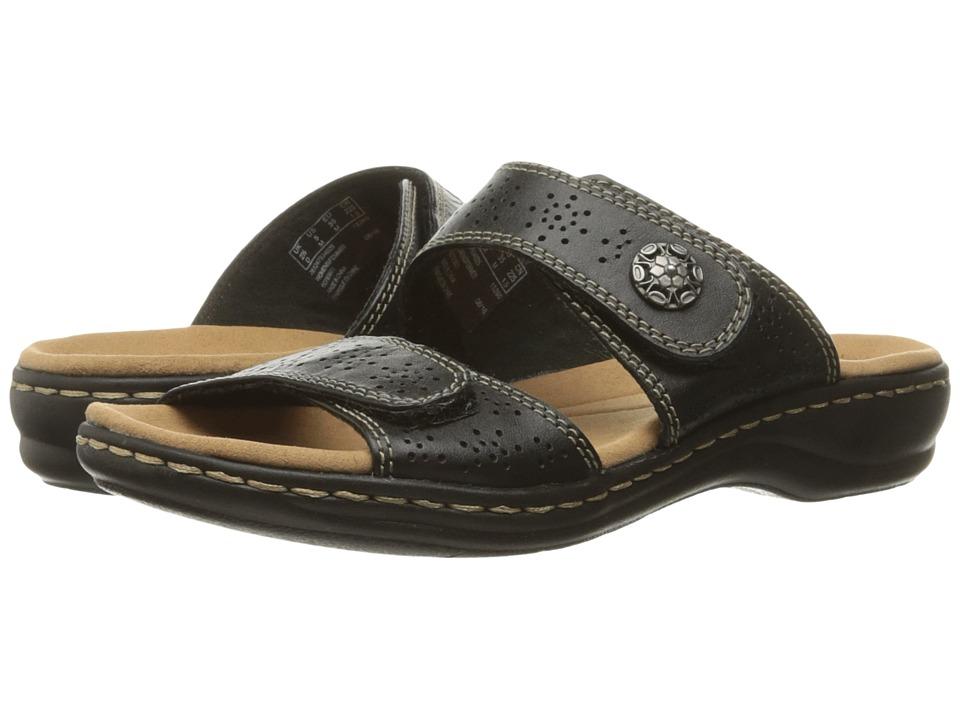 Clarks Leisa Lacole (Black Leather) Sandals