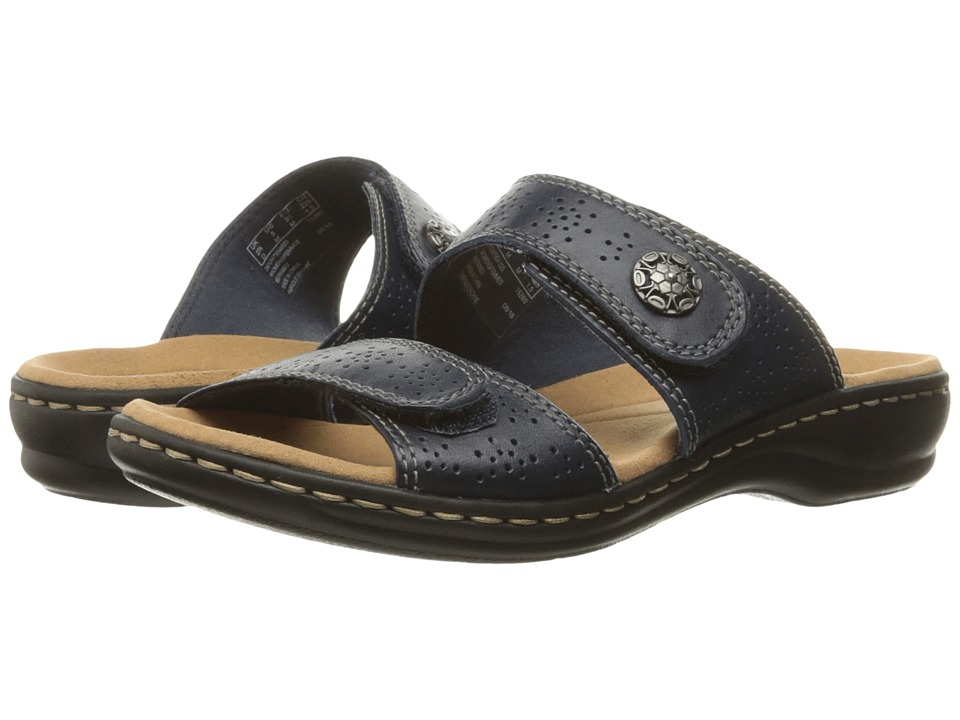 Clarks Leisa Lacole (Navy Leather) Sandals