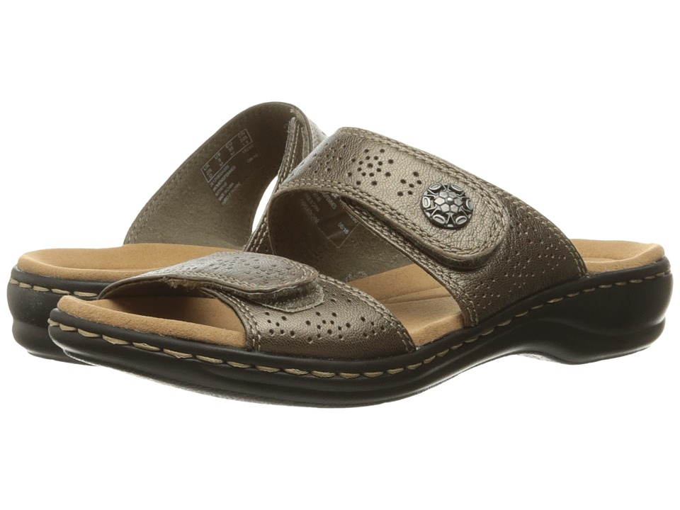 Clarks Leisa Lacole (Pewter Metallic Leather) Sandals