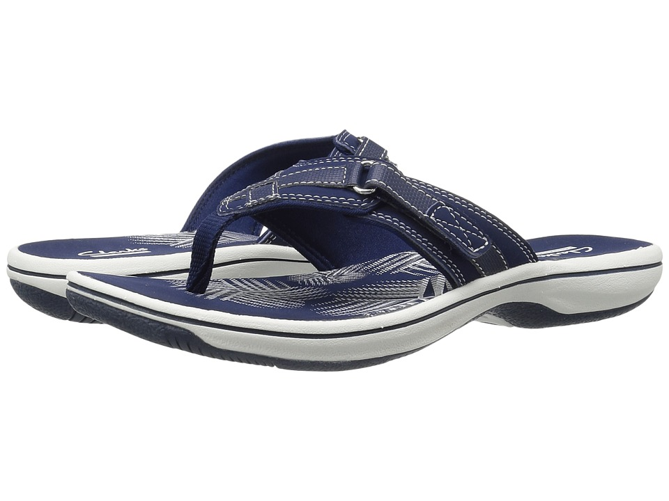 Clarks Breeze Sea (Navy Synthetic) Sandals