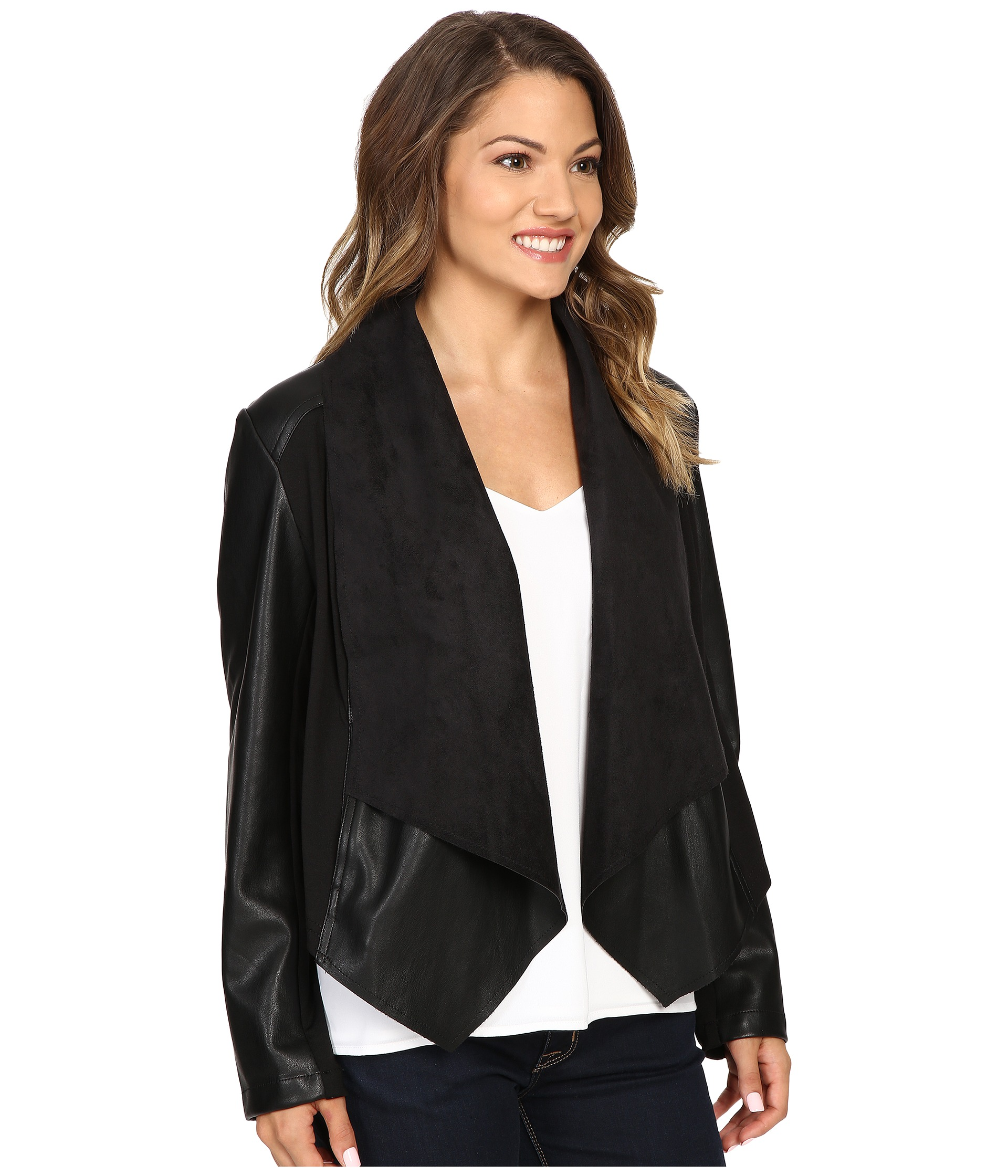 Kut From The Kloth Petite Ana Drape Front Ponte And Faux