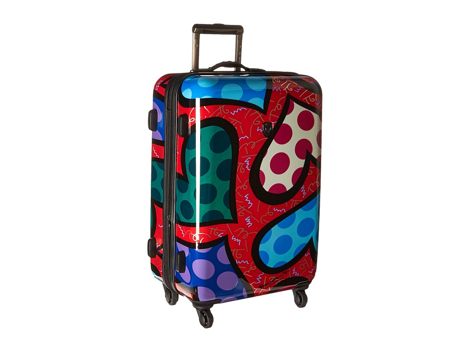 Heys America - Britto Hearts Carnival 26 Spinner (Red) Luggage