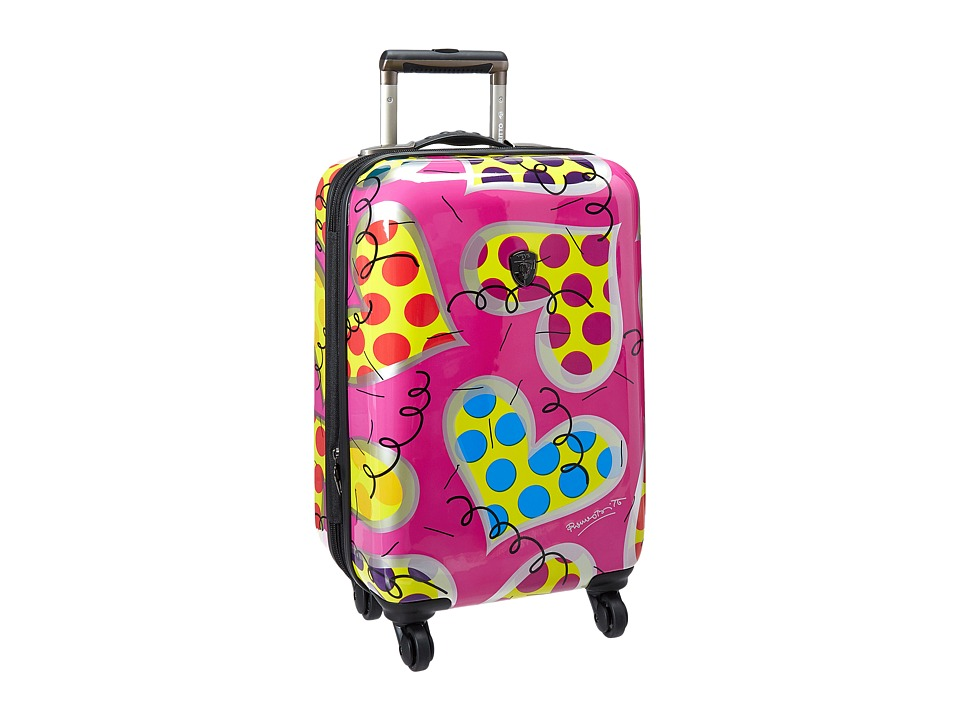 Heys America - Britto Hearts Carnival 21 Spinner (Pink) Luggage