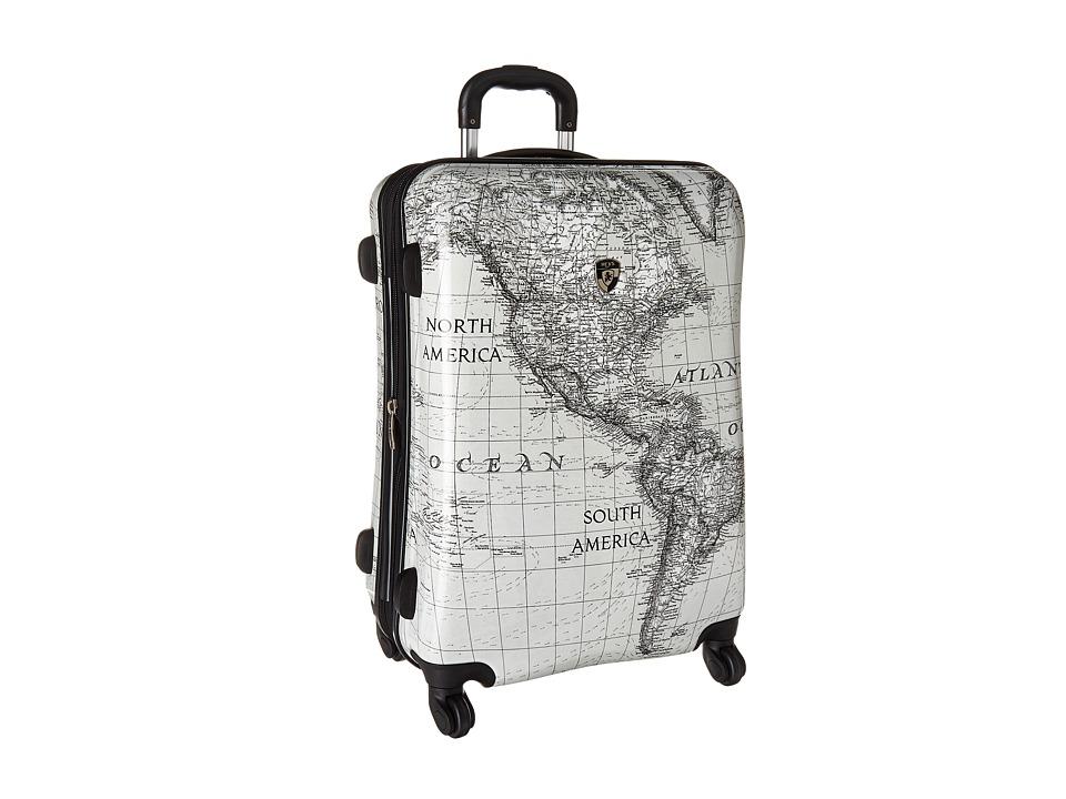 Heys America Classical World 26 Spinner (Black/White) Luggage