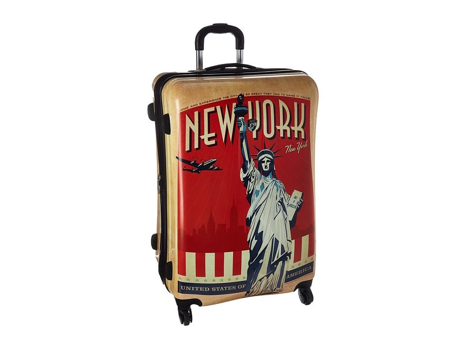 Heys America Vintage Traveller 30 Spinner (Tan) Luggage