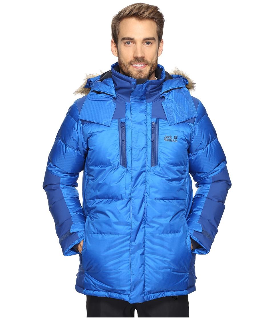 Jack Wolfskin The Cook Parka (Azure Blue) Men's Coat