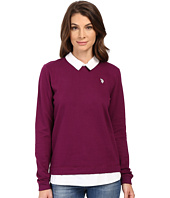 U.S. POLO ASSN. - French Terry Pullover Twofer Shirt