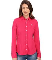 U.S. POLO ASSN. - Knit Pique Button Up Shirt