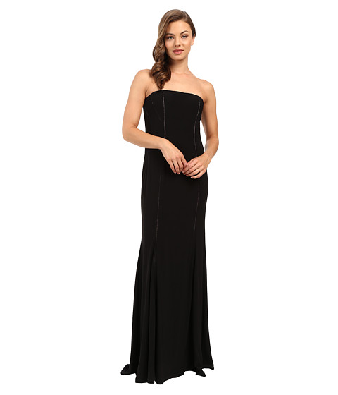Adrianna Papell Strapless Cut Out Jersey Gown