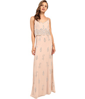 Adrianna Papell - Sleeveless Beaded Popover Gown
