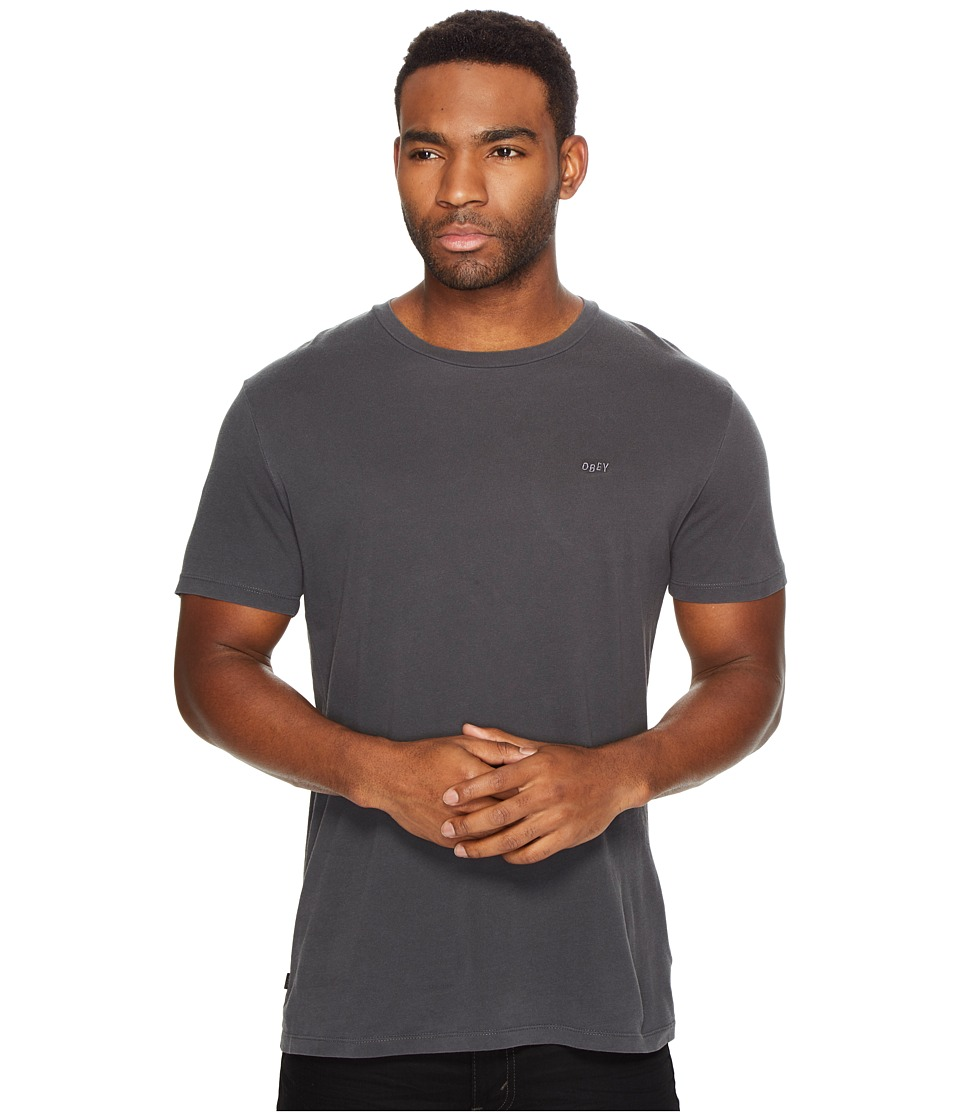 Obey Jumbled Short Sleeve Pigment Tee (Black) Men
