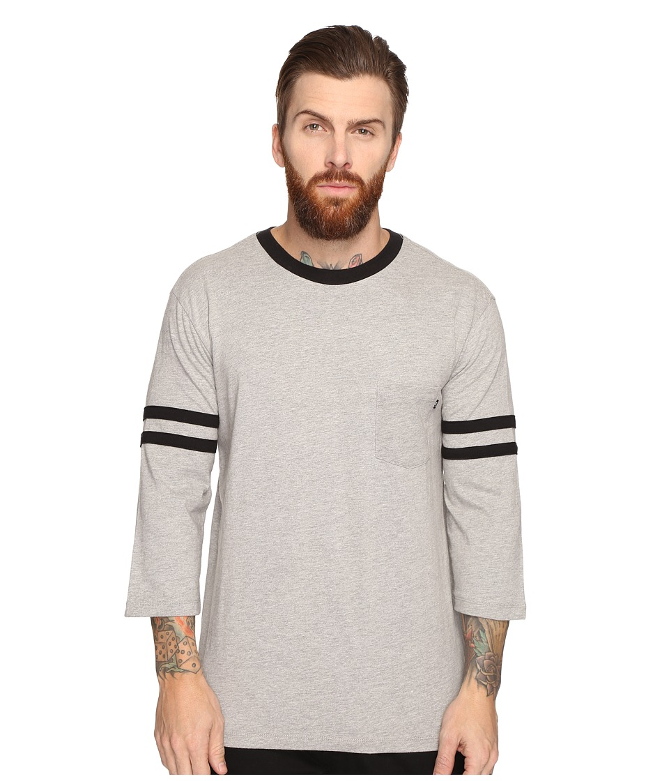 Obey Murraysville 3/4 Sleeve Tee (Heather Grey Multi) Men
