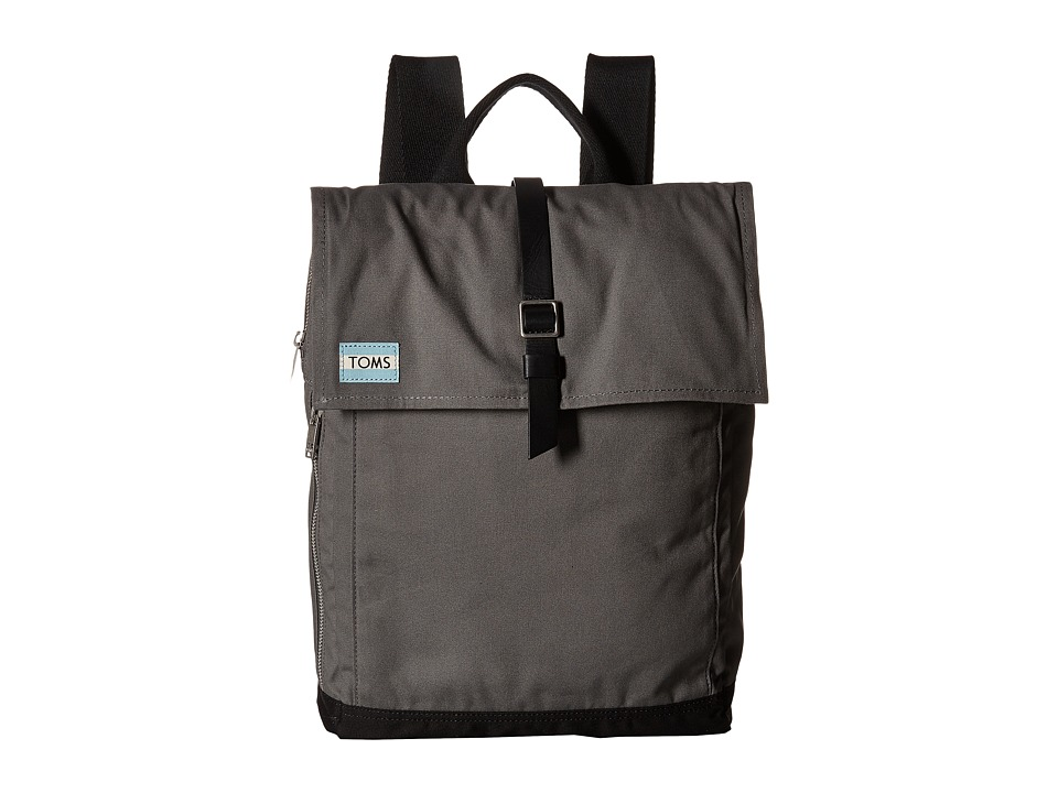 TOMS - Utility Canvas Backpack (Dark Grey) Backpack Bags