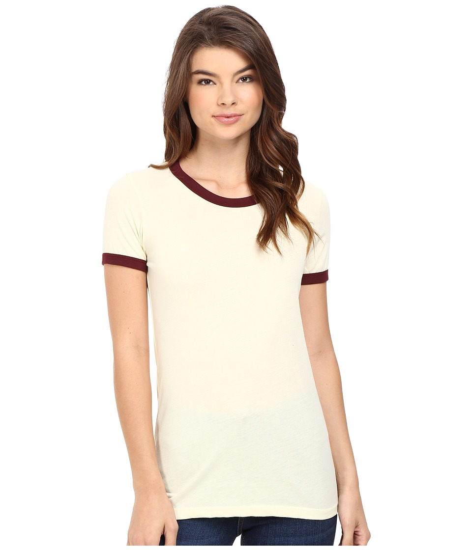 Obey Sold Out Ringer Tee (Lemon/Port Royale) Women