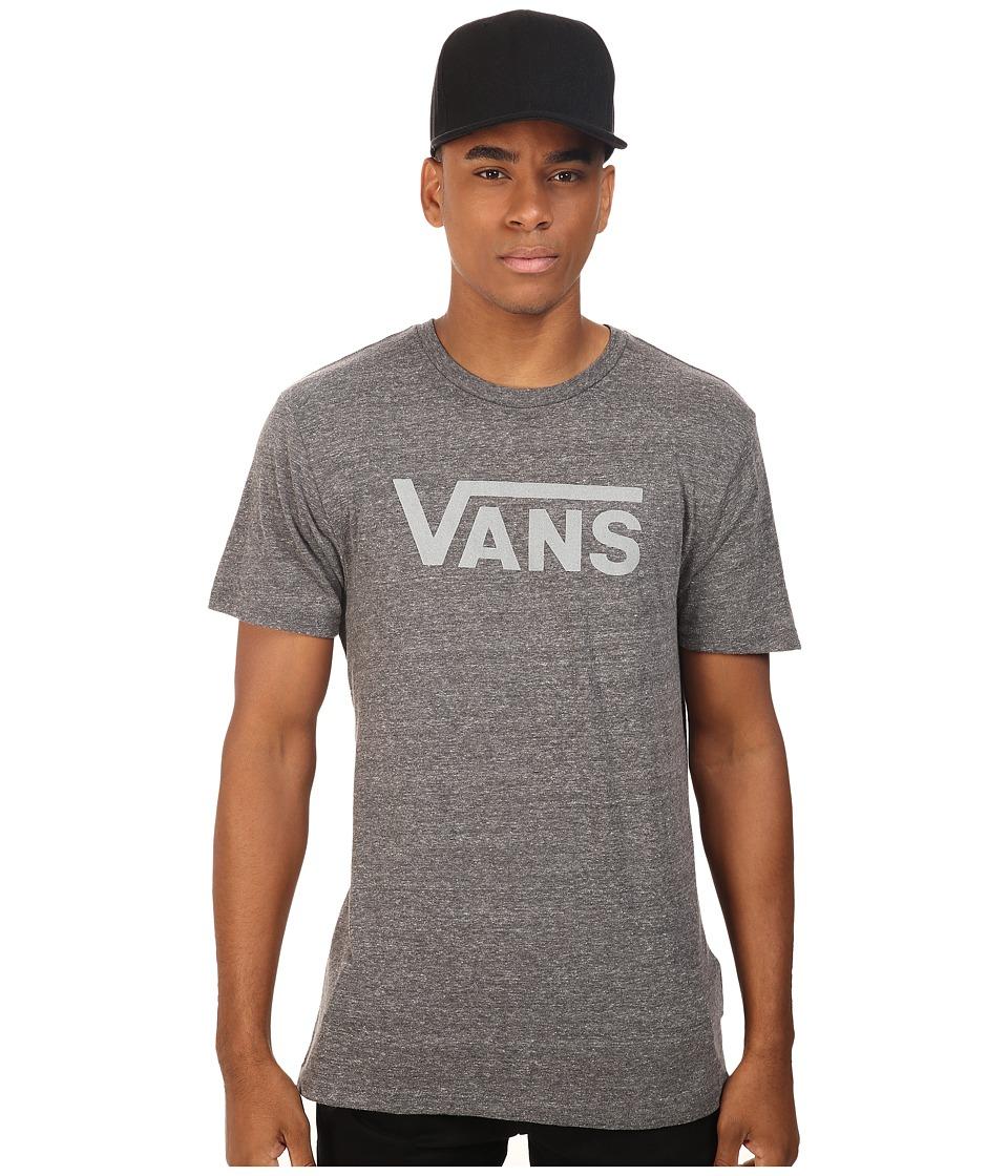 Vans - Classic Heather Tee (Black/Bright White) Men