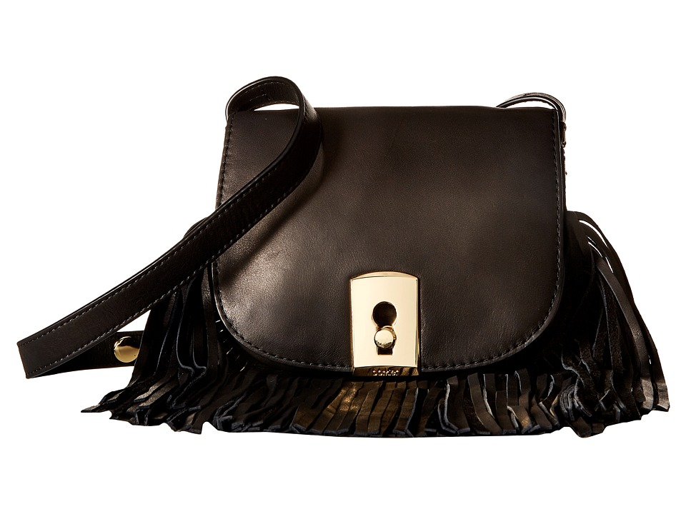 Botkier - Clinton Fringe Crossbody (Black) Cross Body Handbags