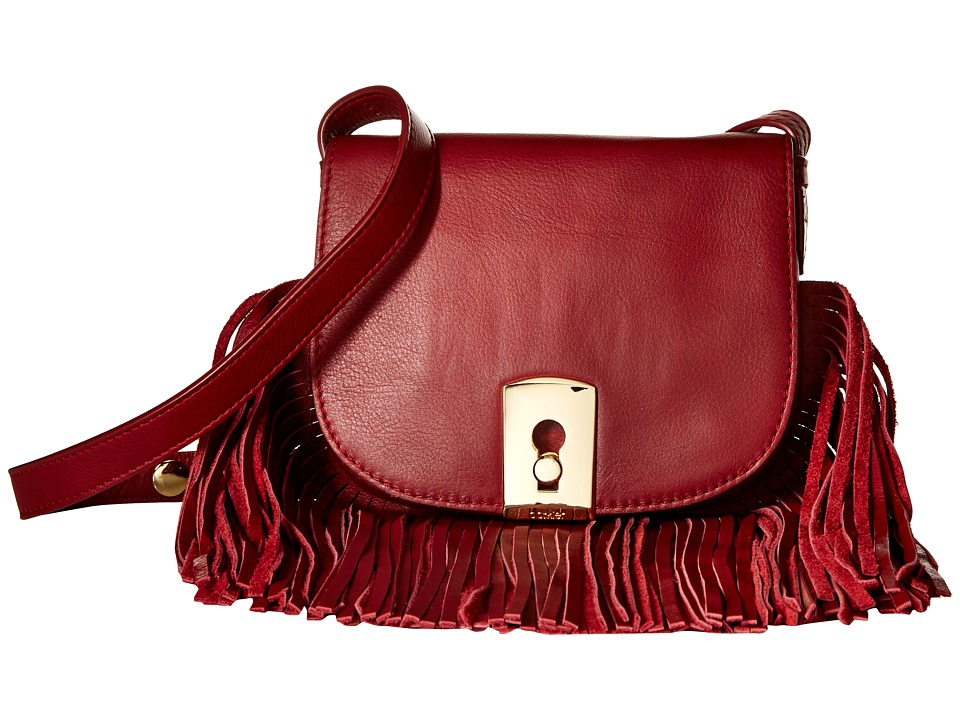 Botkier - Clinton Fringe Crossbody (Chili) Cross Body Handbags