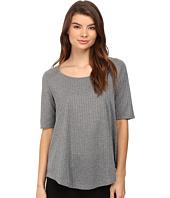 CATHERINE Catherine Malandrino - Short Sleeve Rib Shirttail Top