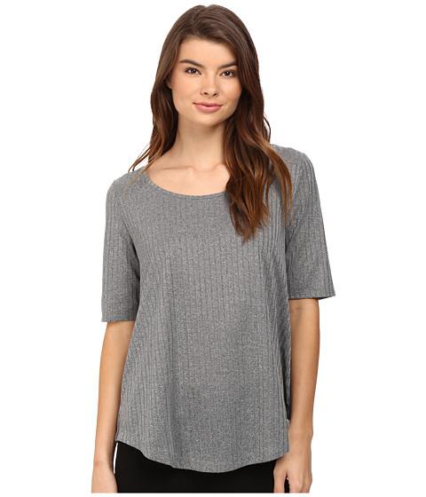 CATHERINE Catherine Malandrino Short Sleeve Rib Shirttail Top