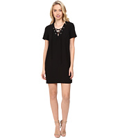 CATHERINE Catherine Malandrino - Short Sleeve Lace-Up Dress