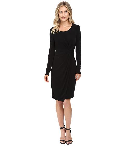 CATHERINE Catherine Malandrino Long Sleeve Knot Front Wrap Dress