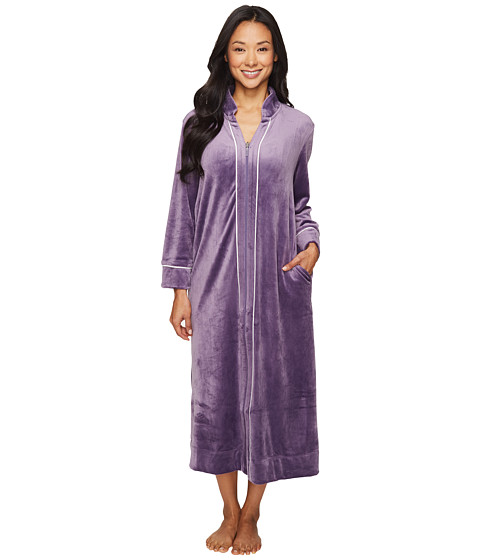 Carole Hochman Petite Velour Zip Robe