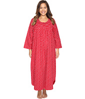 Carole Hochman - Plus Size Flannel Long Sleeve Long Gown