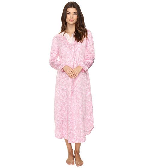Carole Hochman Brush Back Satin Long Gown - Pink Damask