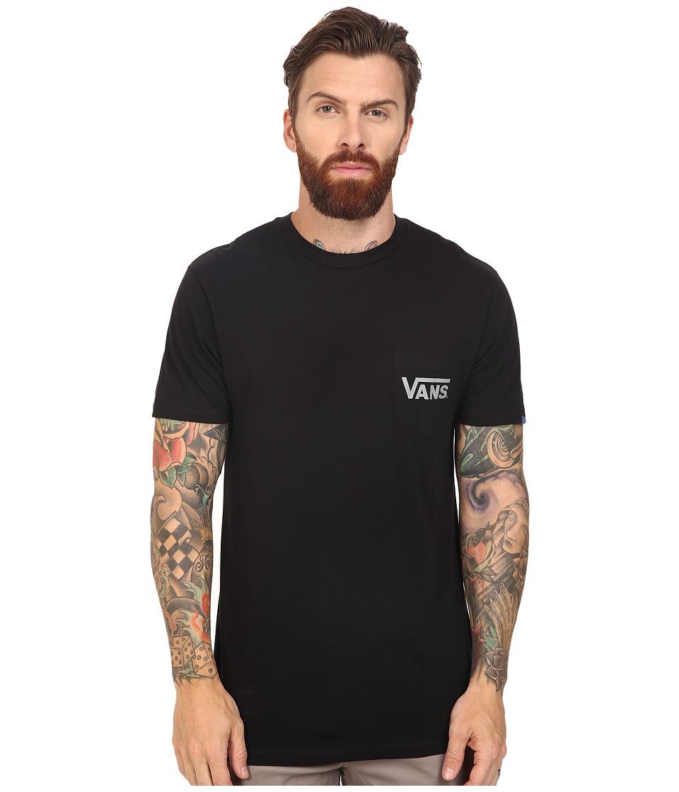 Vans - Dropped V Pocket Tee (Black) Men