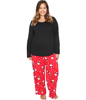 Jockey - Plus Size Microfleece PJ Set