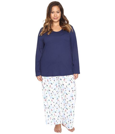 Jockey Plus Size Knit Two-Piece Pajama Set - Skiing Gnomes