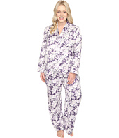 Carole Hochman - Plus Size Packaged Brush Back Satin Pajama