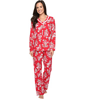 Carole Hochman - Cotton Jersey Pajama with Satin Trim