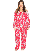 Carole Hochman - Plus Size Cotton Jersey Pajama with Satin Trim
