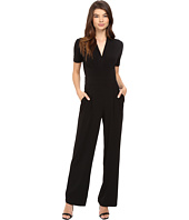 CATHERINE Catherine Malandrino - Short Sleeve Inverted Pleat Jumpsuit