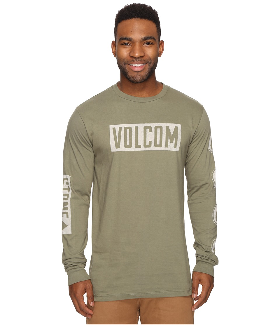 Volcom Knock Long Sleeve Tee (Vineyard Green) Men