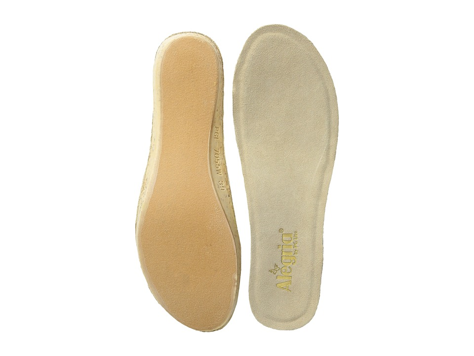 Alegria - Wedge Footbed - Wide (Tan) Womens Insoles Accessories Shoes