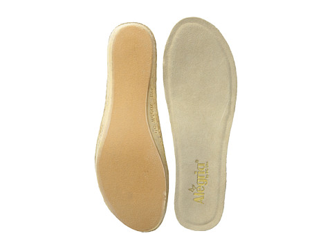 Alegria Wedge Footbed - Wide - Tan